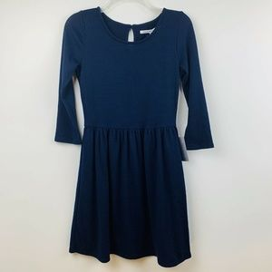 Collective Concepts S Small Sweater Dress Navy